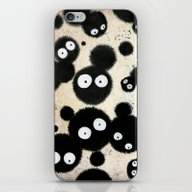 iPhone & iPod Skin featuring Cute Susuwatari Infestat… by Puddingshades