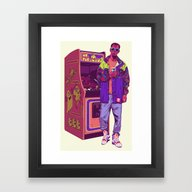 Monster Arcade Framed Art Print