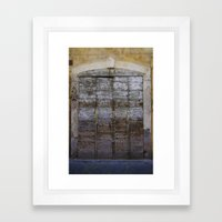 Door 4 Framed Art Print