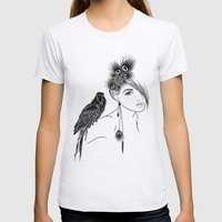 Parrot Girl Womens Fitted Tee Ash Grey SMALL