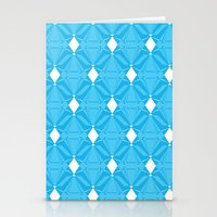 Abstract [BLUE] Emeralds Stationery Cards