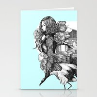 The March Of Winter Stationery Cards