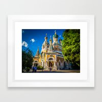 Russian Orthodox Cathedr… Framed Art Print