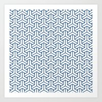 Bishamon In Monaco Blue Art Print
