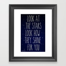 Look How They Shine For You 2.0 Framed Art Print