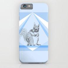 Squirrel stealing nuts iPhone 6 Slim Case
