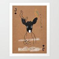 JACK OF SPADES Art Print