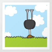 Oz The Ostrich Art Print