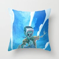 Zombies and Skateboards Throw Pillow
