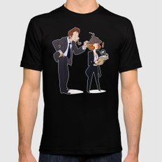 The Game is Afoot! [X-Files] SMALL Black Mens Fitted Tee