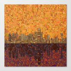 Dallas City Skyline Canvas Print