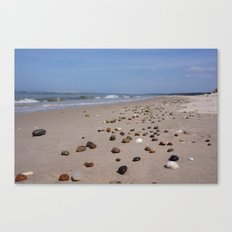 Shiney Stoney Beach - Nairn Scotland - Stones Canvas Print