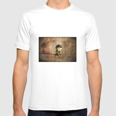 Shy SMALL White Mens Fitted Tee