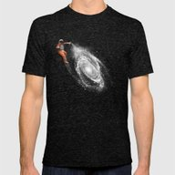 Space Art Mens Fitted Tee Tri-Black SMALL