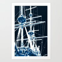 Light's storm Art Print