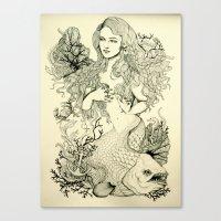 Inverted Mermaid Canvas Print