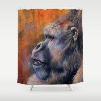 Gorilla: The Portrait of a Stolen Voice Shower Curtain