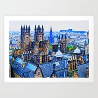 Edinburgh Rooftops  Art Print