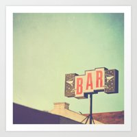 Bar. Los Angeles Photogr… Art Print