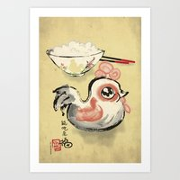 The Asian Chicken Rice B… Art Print