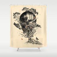 Lost Translation Shower Curtain