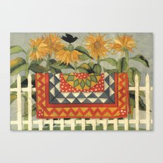 Sunflower Quilt Canvas Print