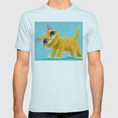 cat play Mens Fitted Tee Light Blue SMALL