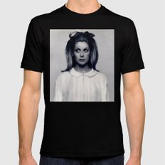 CATHERINE DENEUVE Mens Fitted Tee Black SMALL