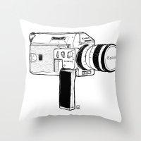 Super8 Throw Pillow
