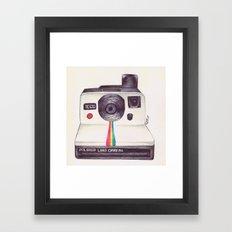 Ballpoint Pen Polaroid Framed Art Print