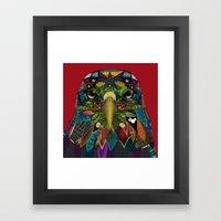American Eagle red Framed Art Print