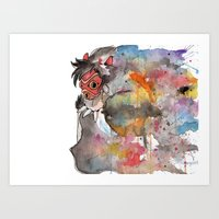 Rainbow Princess Mononoke Art Print