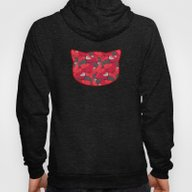 Purrrfect Pattern (Red) Hoody
