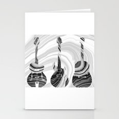 Marbled Music Art - Three Guitars - Sharon Cummings Stationery Cards