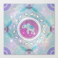 MAGIC HAPPY ELEPHANT Canvas Print