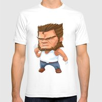 Mini Wolverine Mens Fitted Tee White SMALL