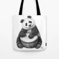Panda playing percussion G140 Tote Bag