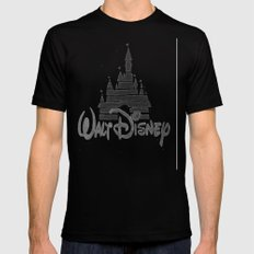 Disney Castle  Mens Fitted Tee Black SMALL