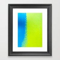 Blue Green Paint Framed Art Print