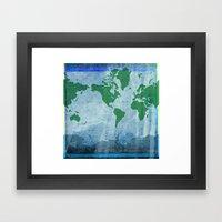 Mercator World Map Framed Art Print