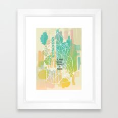 Imitation Flattery - As Many Flipping Triangles as Possible Framed Art Print