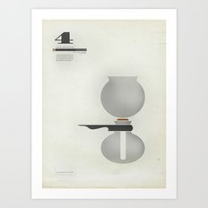 Coffee Contraption #4: Vacuum Art Print