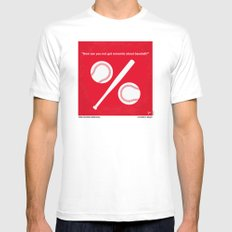 No191 My Moneyball minimal movie poster SMALL White Mens Fitted Tee
