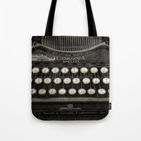 Old Typewriter Keyboard Tote Bag