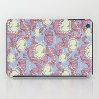 Cameo & Trailing Hair // Pink & Blue Pastels iPad Case