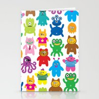 Monsters and Aliens Stationery Cards