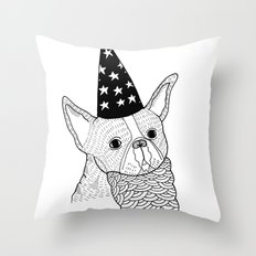 Dog Wizard Throw Pillow
