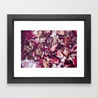 Dried fruits and leaves. Framed Art Print