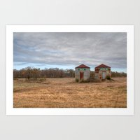 A Cloudy Winter Day In R… Art Print
