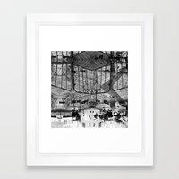 Summer space, smelting selves, simmer shimmers. 28, grayscale version Framed Art Print